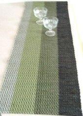Hand woven table runner.