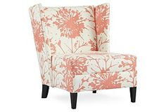 Elite Leather Co. Lulu DK Camille Chair Pink and White