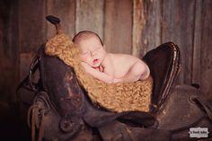 Cowboy newborn portrait