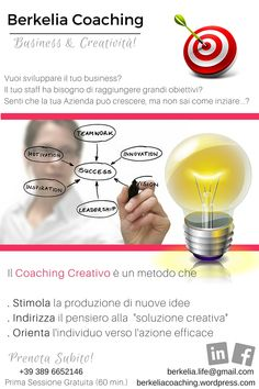 #business #coaching: un metodo creativo, orientato all'azione efficace e che si fonda sull'allenamento delle potenzialità...scopri come iniziare subito a migliorare la tua vita!