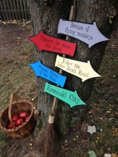 WIZARD of OZ Whimsical Party signs