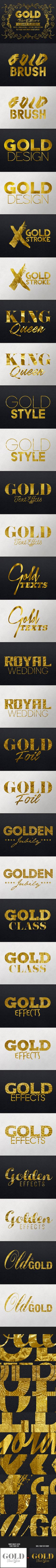 Gold Text Effects for Photoshop. Download: http://graphicriver.net/item/gold-text-effects/14484610?ref=ksioks
