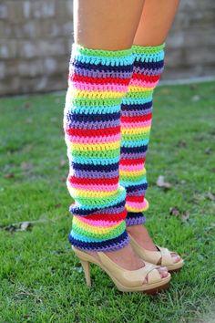 Rainbow Leg Warmers