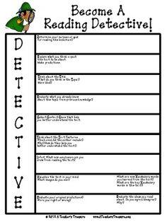 Non-Fiction Reading Detective Graphic Organizer. FREE!