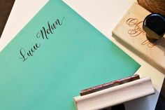 Custom Calligraphy Name Stamp Your Name by AngeliqueInk on Etsy