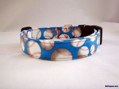 Hit a HOME RUN every time with this baseball dog collar!