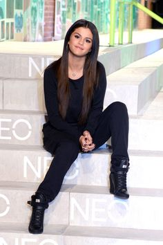 Selena Gomez attends the Adidas Neo show during Mercedes-Benz Fashion Week Spring 2015 on Sept. 3, 2014, in New York City.  Getty -Cosmopolitan.com