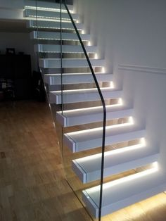 wall mount white color stair lighting