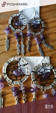 New Dream Catcher earrings New. Dream Catcher with amethysts stones earrings Fashion jewelry Jewelry Earrings