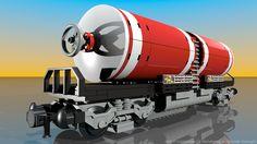 Lego Tanker - Customized by Davide Solurghi (Morpheus) HD Lego Factory, Brick Construction, Lego Trains, Cool Lego Creations, Lego Design, Train Engines, Lego Brick, Legos, Fighter Jets
