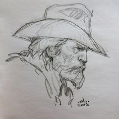 Awesome Drawing Doodles Videos Minimalist 82 For with Drawing Doodles Videos Minimalist Drawing Doodles Videos Minimalist Portrait Sketches, Art Drawings Sketches, Cool Drawings, Sketches Of People, Drawing People, Arte Sketchbook, Cowboy Art, Art Studies, Western Art