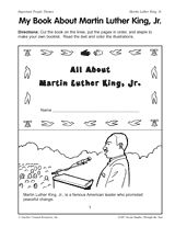 Students can put together and color this mini-book about Dr. Martin Luther King Jr. around Dr. King's birthday (January) or as part of your Black History Month (February) curriculum.