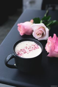 Blossoming Tea Latte