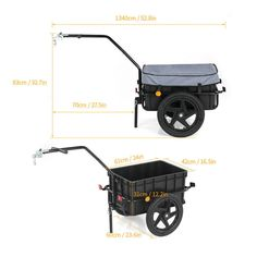 Heavy Duty Bike Trailer Cargo Carrying on Bicycle - China Bicycle Trailer, Bike Carrier Cart | Made-in-China.com Bike Cargo Trailer, Cargo Trailers, E Biker, Qingdao, Welding Projects, Wheelbarrow, Cool Bikes, Baby Strollers, Transportation