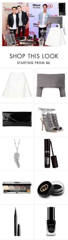 """""""Music award with Cameron Dallas"""" by fashion-is-my-kryptonite2000 ❤ liked on Polyvore featuring Neil Barrett, Dorothee Schumacher, L.K.Bennett, Gianvito Rossi, Penny Preville, Bobbi Brown Cosmetics, Gucci, Marc Jacobs and Inglot"""