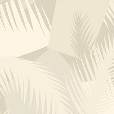 Deco Palm Wallpaper A spectacular wallpaper with a palm motif screen printed in shades of pale grey and beige on an off-white ground. The design, which is inspired by the exotic foliage found in Miami, has been worked into a more contemporary geometric style that takes the palm to new and exciting heights.