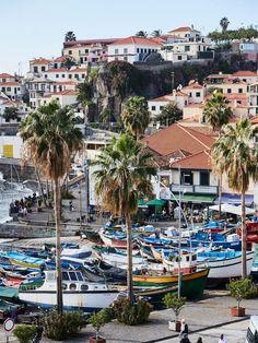 Câmara de Lobos sur la côte sud de l'île, fut l'un des endroits abordés par les Portugais au XVe siècle - Madère