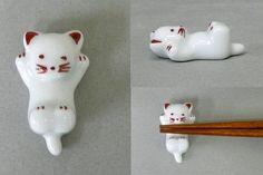 Repose baguette en forme de chat (céramique chinoise)
