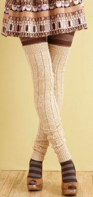 Вязание спицами гетры для начинающих