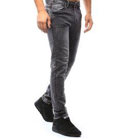 Antracitové džínsové nohavice
