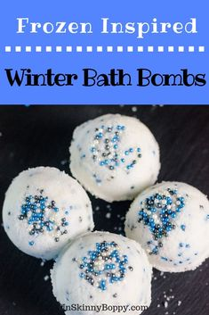 Calling all Frozen fans! These Winter Bath Bombs are certain to be a hit in your home this cold weather season! Frozen Themed Birthday Party, Birthday Party Themes, Frozen Party, Handmade Valentine Gifts, Frozen Crafts, Best Bath Bombs, Homemade Bath Bombs, Bath Bomb Recipes, Sweet Almond Oil