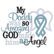 My Daddy was so Amazing God made him an Angel....I want this for Trey w/o the ribbon! @Danah Martin