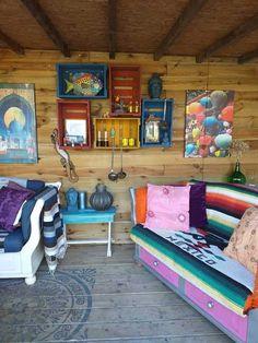 Bohemian Room, Boho Designs, Outdoor Furniture, Outdoor Decor, Villa, Couch, Bed, Home Decor, Interiors