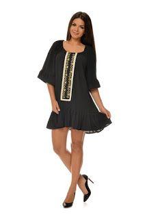 tinuta_cu_motive_etnice_si_populare6 Dresses, Fashion, Vestidos, Moda, Fashion Styles, Dress, Fashion Illustrations, Gown, Outfits