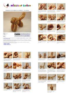 Fiche technique :  Initiation à la sculpture sur ballon 1 - Le toutou