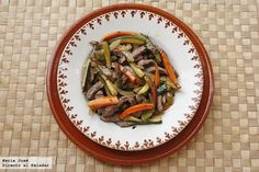 Wok, Fajitas, Recipe Collection, Japchae, Yummy Food, Delicious Recipes, Beef, Cooking, Ethnic Recipes