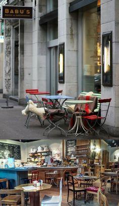 Babu´s Bakery and Coffee in Zurich Cool Cafe, Zurich, Switzerland, Bakery, Restaurant, Coffee, Travel, Heart, Home Decor