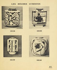 Céramique T.R. Lallemant. 1923. Metropolitan Museum of Art (New York, N.Y.). Thomas J. Watson Library. Trade Catalogs. #tradecatalog #cubism  | The T. R. Lallemant firm's Cubist ceramics from the early 1920s.