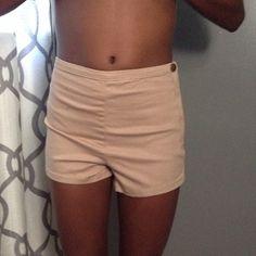 High waisted cream shorts Never worn Shorts