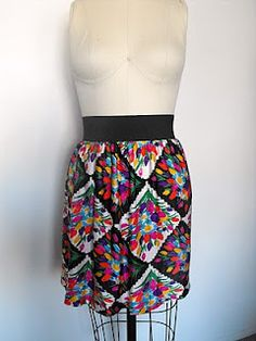 No way... turn a mumu/dress into a skirt - No hem 10 minute skirt tutorial