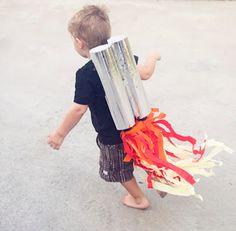 Preschool Crafts for Kids*: Rocket Jet Pack Bottle Craft