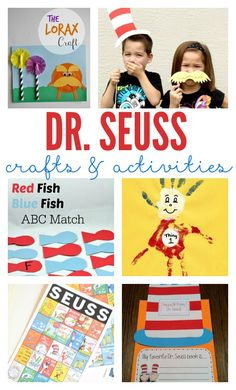 There's no better way to enjoy the books of Dr. Seuss than with some creative and fun Dr. Seuss crafts and activities. Fun diy crafts, games, and activities that will bring these great books to life.