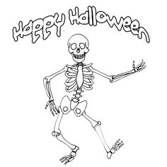 Halloween Skeleton Pictures   Skeleton coloring pages Quad Ocean Group
