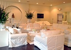 Soft white lounge furniture   ©Sterling By Design