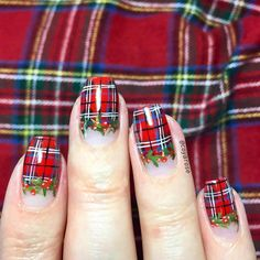 Floral play an important role in nail art design. Many people like the floral nail art design. In this article, we have collected 65 stylish floral nail art designs for yo Plaid Nail Designs, Plaid Nail Art, Funky Nail Art, Plaid Nails, Floral Nail Art, Funky Nails, Cute Nails, Pretty Nails, Nail Art Designs