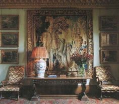 Large Chinese Porcelain Lamp  ~ English Country House