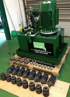 This bespoke built hydraulic power unit features a rewound