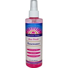 Heritage Products, Rosewater, Rose Petals, 8 fl oz (240 ml) Totally refreshing on a warm day, and tones down redness from being overheated.