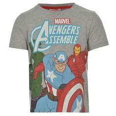 Boys Grey Marvel Avengers Hulk, Captain America & Ironman Printed T Shirt £9.99 #marvel #avengers #marvelshirt
