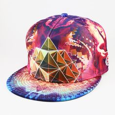 Gold Dust Snapback Hat By Alternative Intelligence and Justin Totemical
