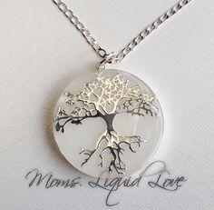Grote hanger met boom - Moms Liquid Love  Moedermelk sieraden, as sieraden, as sieraad, moedermelk sieraad, Borstvoeding, kolven