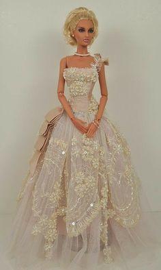 Barbie Bridal, Barbie Wedding Dress, Wedding Doll, Barbie Gowns, Barbie Dress, Barbie Clothes, Barbie Doll, Manequin, Bride Dolls