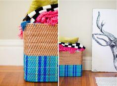 DIY blanket basket with @west elm
