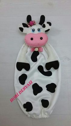 Keçe inek poşetlik, felt cow bag holder