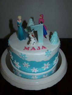 Frozen Cake Elsa Anna Olaf Eiskönigin Fondant