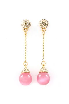 Christina Dangles in Crystal and Blush